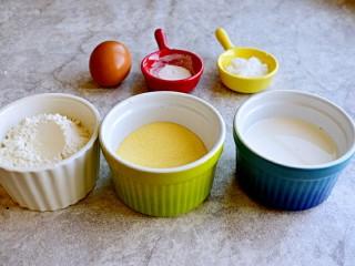 奶香玉米饼,准备食材