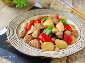 杏鲍菇炒香肠