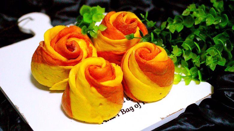 #甜味#双色南瓜玫瑰花