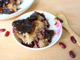 甑糕,趁热吃,味道特别香甜。