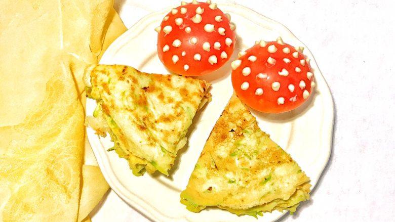 趣萌番茄蘑菇蔬菜饼