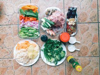 家庭版麻辣香锅,食材准备