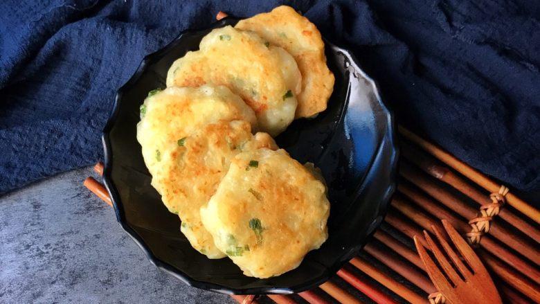 虾仁香葱饼