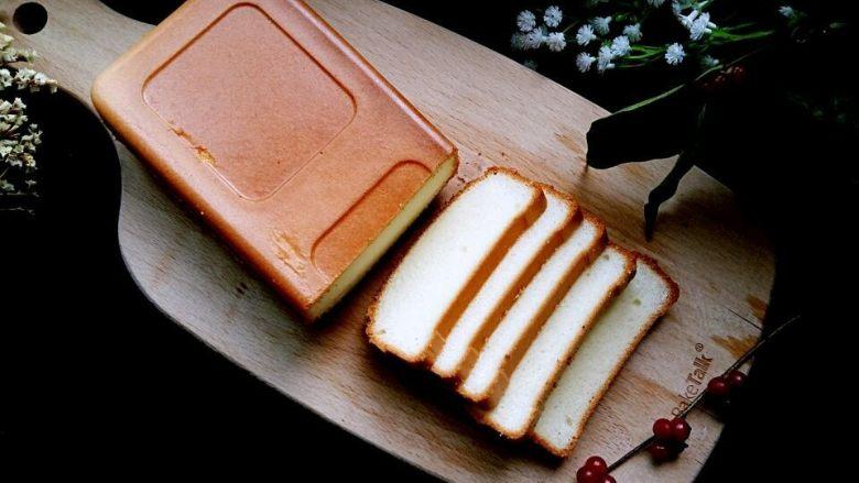 入口即化的棉花蛋糕,成品图。