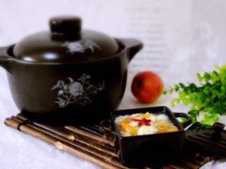 一碗汤+苹果百合酒酿蛋花羹,一碗润肺清心养神养生汤就做好了