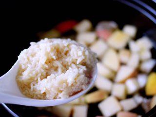 一碗汤+苹果百合酒酿蛋花羹,加入酒酿