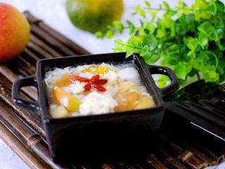 一碗汤+苹果百合酒酿蛋花羹,成品一
