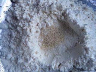 香菇大肉包,面粉放入酵母