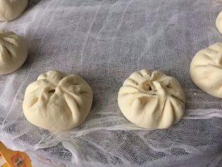 香菇大肉包,放蒸架上,盖上盖子二次发酵15分钟后冷水上锅蒸30分钟焖10分钟即可
