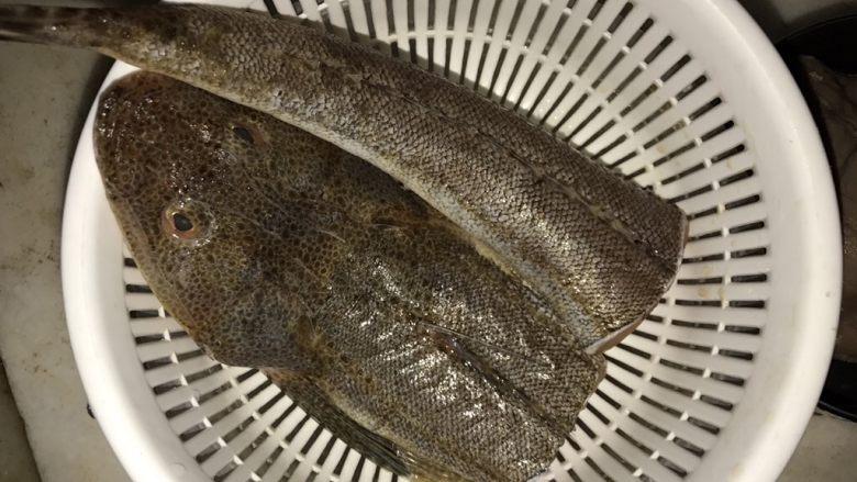 一碗汤 蚝豉粉葛牛尾鱼汤,牛尾鱼洗净沥干水分