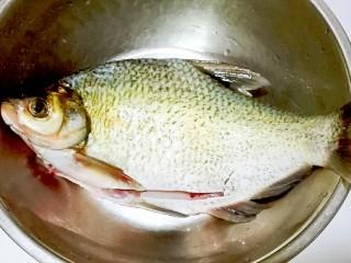红红火火~清蒸鳊鱼,鳊鱼刮去鱼鳞,破开鱼肚清理鱼肠鱼鳃