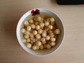 【斑纹豆沙莲蓉月饼】自制红豆沙+白莲蓉,浸泡吸水后的样子