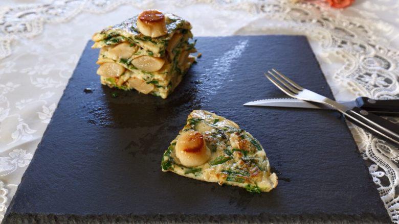 早餐+鲜贝韭菜饼