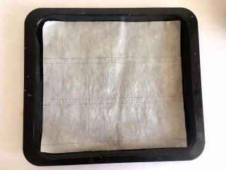 手指饼干, 油纸用笔分成3份7厘米左右的大小