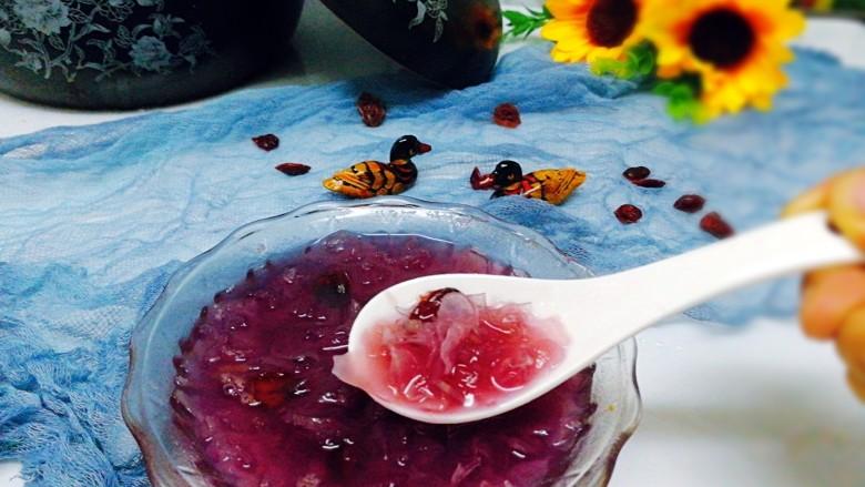 早餐+养生紫薯银耳羹,成品图