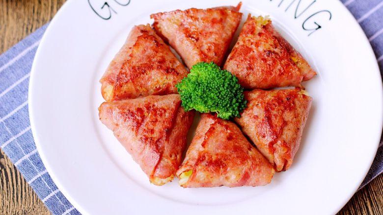 培根包饭—小小炒饭的另一种高大上吃法,美美的早餐完成了,快享用吧~