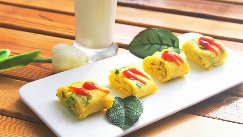 幸福早餐葱花鸡蛋卷