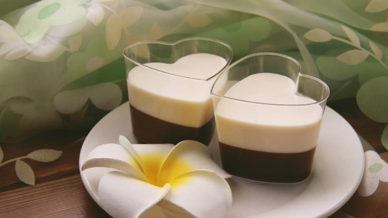 巧克力牛奶双色布丁