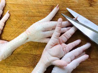 秘制卤凤爪,剪掉指甲