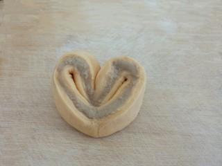 爱心豆沙包,爱心豆沙包就做好了