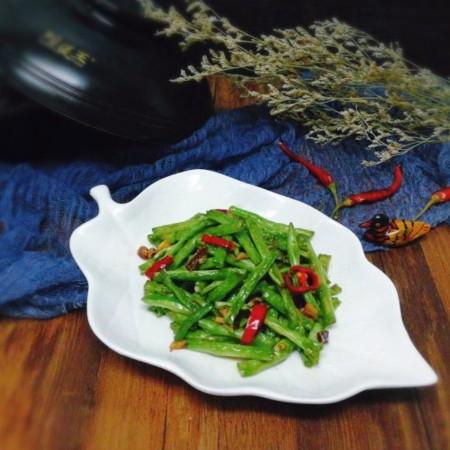 绿色美食+干煸豆角