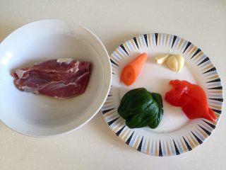 溜肉段,准备食材。