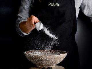 坚果葡萄干司康,面粉过筛