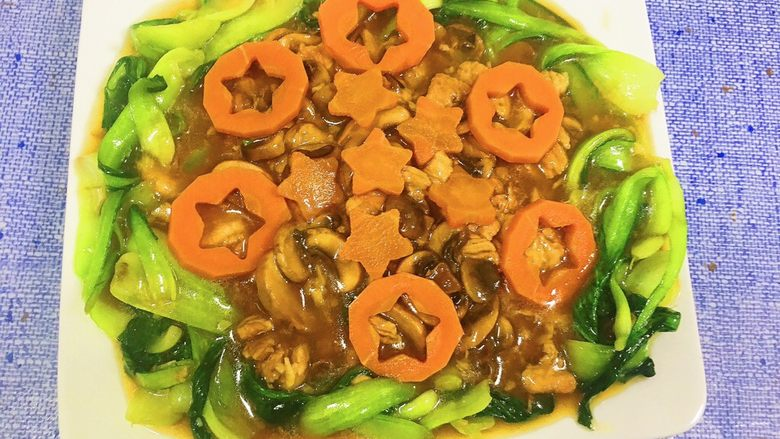 洋菇溜油菜