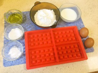 40分钟小白版华夫饼,准备所有材料