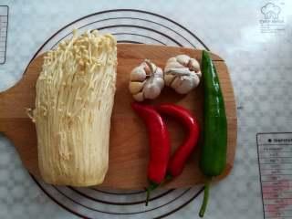 蒜香金针菇(烤箱版),准备好需要用到的材料
