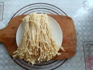 蒜香金针菇(烤箱版),金针菇挤掉水份