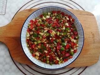 蒜香金针菇(烤箱版),混合均匀后腌制一会