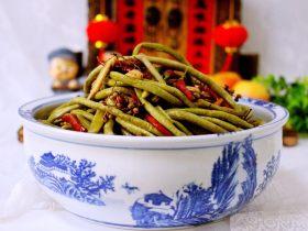 绿色美食+自制酸豆角