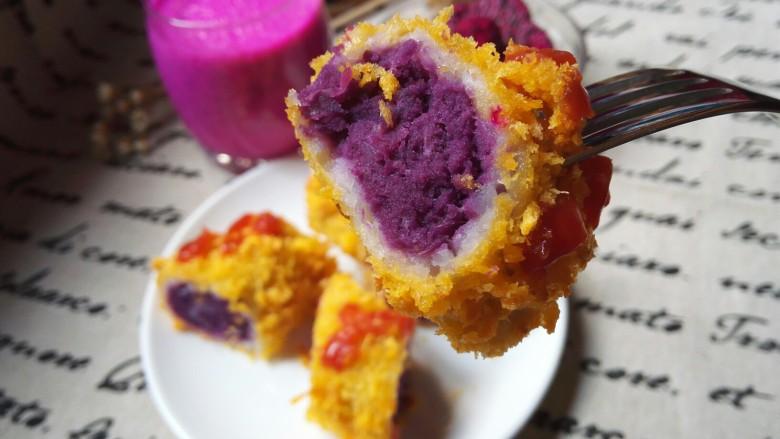 剩米饭紫薯泥卷