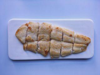 黑椒巴沙鱼意面,切块备用