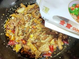 香辣猪肉干,加味精