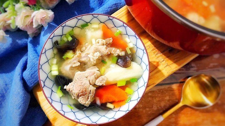 山药黑木耳胡萝卜排骨汤
