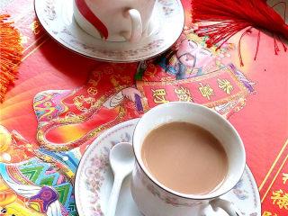 秋冬季养胃暖身最佳饮品--姜枣奶茶,成品图