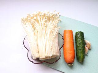 凉拌金针菇~简单快手,食材准备