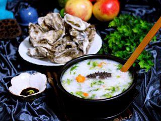 剩米饭也有春天(海鲜杂蔬粥),配上辣根海蛎子、给个神仙都不换