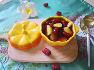 红枣番薯糖水~#冬喝暖饮夏吃冰#,煮好的番薯红糖水,稍晾凉即可食用。