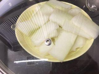 冬瓜马蹄爽,放锅里隔水蒸20分钟