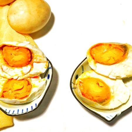 自制流油沙黄咸鸭蛋