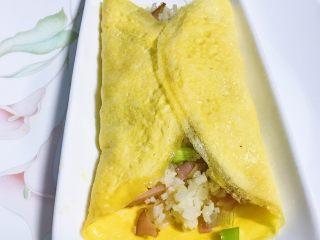 零失败的蛋包饭,隔夜饭的春天,两边包起。