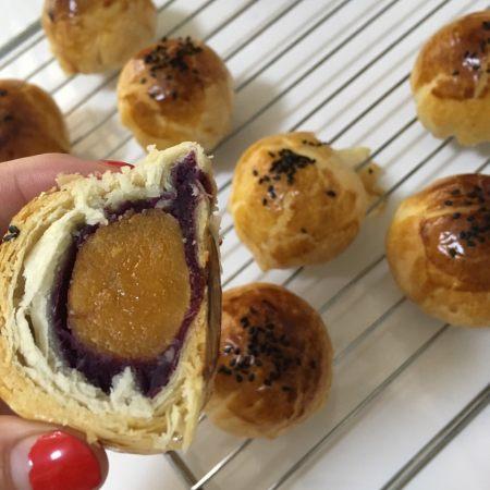 紫薯蛋黄酥详细版