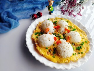 剩米饭百种做法+小老鼠抱蛋煎饭团