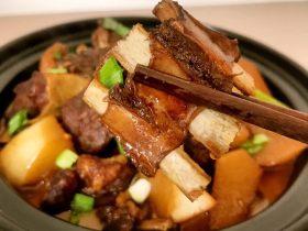 红烧羊排炖萝卜小火锅