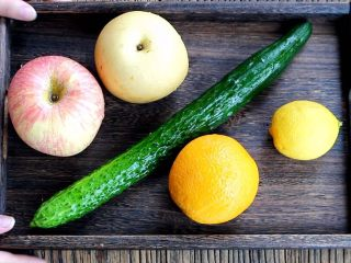 三色冰水果汁,准备食材