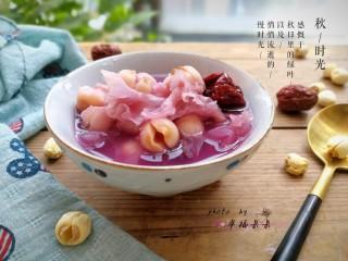 紫薯银耳莲子羹,美美哒!健康又养生!