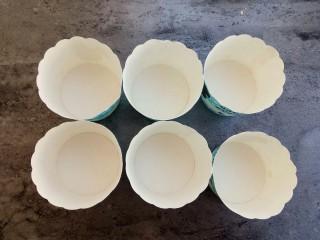 下午茶~无水纸杯蛋糕,准备好纸杯蛋糕